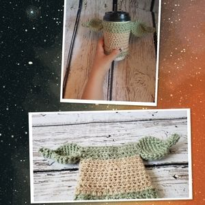 Light Green Baby Yoda cup cozy